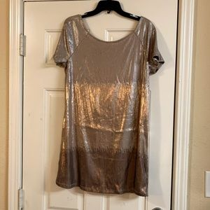 Free people Drenched in Sequin Gold Ombré Mini